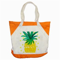Cute Pineapple Accent Tote Bag by Brittlevirginclothing