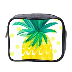 Cute Pineapple Mini Toiletries Bag 2 Side by Brittlevirginclothing