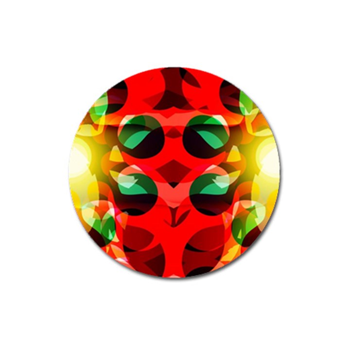 Abstract Digital Design Magnet 3  (Round)