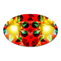 Abstract Digital Design Oval Magnet