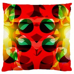 Abstract Digital Design Large Flano Cushion Case (one Side)