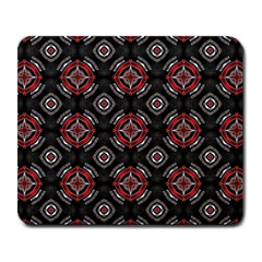 Abstract Black And Red Pattern Large Mousepads by Amaryn4rt