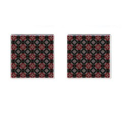 Abstract Black And Red Pattern Cufflinks (square) by Amaryn4rt