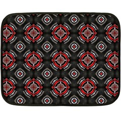 Abstract Black And Red Pattern Fleece Blanket (mini) by Amaryn4rt