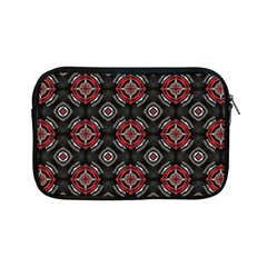 Abstract Black And Red Pattern Apple Ipad Mini Zipper Cases by Amaryn4rt