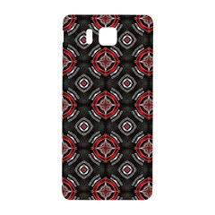 Abstract Black And Red Pattern Samsung Galaxy Alpha Hardshell Back Case by Amaryn4rt