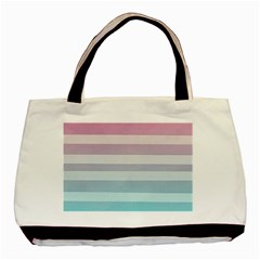 Colorful Horizontal Lines Basic Tote Bag by Brittlevirginclothing