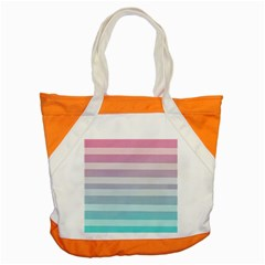 Colorful Horizontal Lines Accent Tote Bag by Brittlevirginclothing