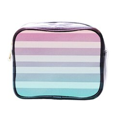 Colorful Horizontal Lines Mini Toiletries Bags by Brittlevirginclothing