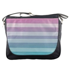 Colorful Horizontal Lines Messenger Bags by Brittlevirginclothing