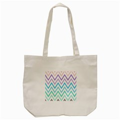 Colorful Wavy Lines Tote Bag (cream) by Brittlevirginclothing