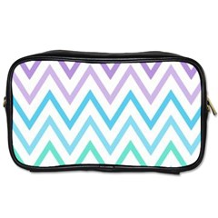 Colorful Wavy Lines Toiletries Bags 2 Side by Brittlevirginclothing