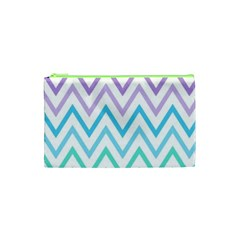 Colorful Wavy Lines Cosmetic Bag (xs) by Brittlevirginclothing