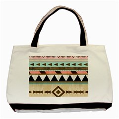 Colorful Bohemian Basic Tote Bag (two Sides) by Brittlevirginclothing