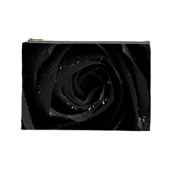 Black Rose Cosmetic Bag (large)  by Brittlevirginclothing