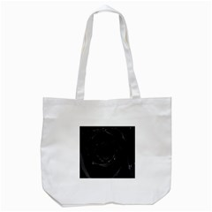 Black Rose Tote Bag (white) by Brittlevirginclothing