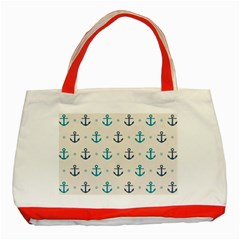 Sailor Anchor Classic Tote Bag (red) by Brittlevirginclothing
