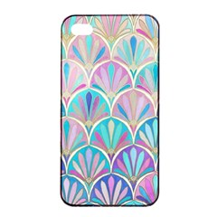 Colorful Sea Shell Apple Iphone 4/4s Seamless Case (black) by Brittlevirginclothing