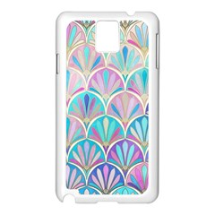 Colorful Sea Shell Samsung Galaxy Note 3 N9005 Case (white) by Brittlevirginclothing
