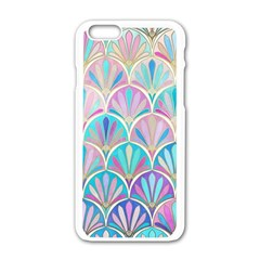 Colorful Sea Shell Apple Iphone 6/6s White Enamel Case by Brittlevirginclothing