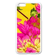 Colorful Pink Flower Apple Iphone 6 Plus/6s Plus Enamel White Case by Brittlevirginclothing