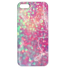 Rainbow Sparles Apple Iphone 5 Hardshell Case With Stand by Brittlevirginclothing