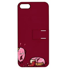 Funny Donut Apple Iphone 5 Hardshell Case With Stand by Brittlevirginclothing