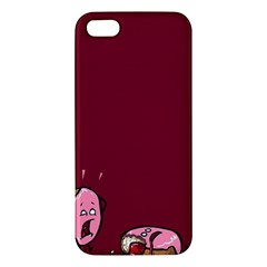 Funny Donut Iphone 5s/ Se Premium Hardshell Case by Brittlevirginclothing