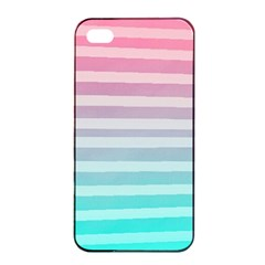 Colorful Vertical Lines Apple Iphone 4/4s Seamless Case (black) by Brittlevirginclothing