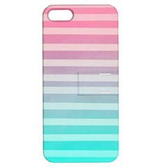Colorful Vertical Lines Apple Iphone 5 Hardshell Case With Stand by Brittlevirginclothing