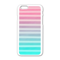 Colorful Vertical Lines Apple Iphone 6/6s White Enamel Case by Brittlevirginclothing