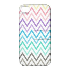 Colorful Wavy Lines Apple Iphone 4/4s Hardshell Case With Stand by Brittlevirginclothing