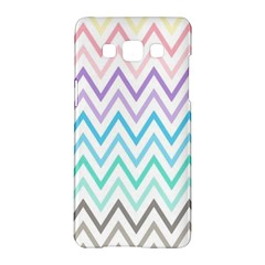 Colorful Wavy Lines Samsung Galaxy A5 Hardshell Case  by Brittlevirginclothing