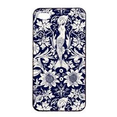 Deep Blue Apple Iphone 4/4s Seamless Case (black) by Brittlevirginclothing