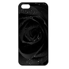 Black Rose Apple Iphone 5 Seamless Case (black) by Brittlevirginclothing