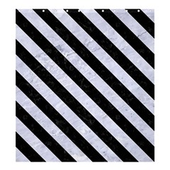 Stripes3 Black Marble & White Marble (r) Shower Curtain 66  X 72  (large) by trendistuff