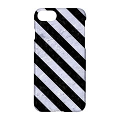 Stripes3 Black Marble & White Marble (r) Apple Iphone 7 Hardshell Case by trendistuff