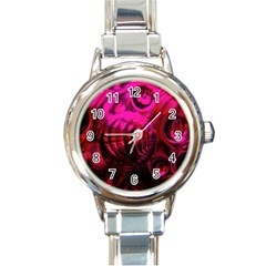 Abstract Bubble Background Round Italian Charm Watch by Amaryn4rt