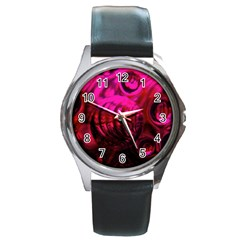 Abstract Bubble Background Round Metal Watch by Amaryn4rt