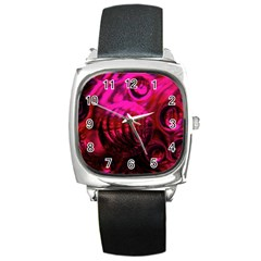 Abstract Bubble Background Square Metal Watch by Amaryn4rt