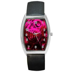 Abstract Bubble Background Barrel Style Metal Watch by Amaryn4rt