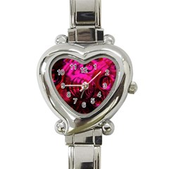 Abstract Bubble Background Heart Italian Charm Watch by Amaryn4rt