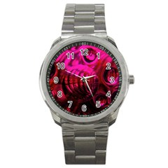Abstract Bubble Background Sport Metal Watch by Amaryn4rt
