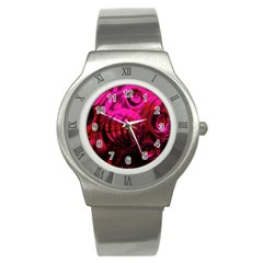 Abstract Bubble Background Stainless Steel Watch by Amaryn4rt