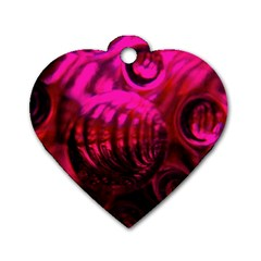 Abstract Bubble Background Dog Tag Heart (two Sides) by Amaryn4rt