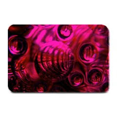 Abstract Bubble Background Plate Mats by Amaryn4rt