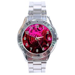 Abstract Bubble Background Stainless Steel Analogue Watch by Amaryn4rt