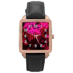 Abstract Bubble Background Rose Gold Leather Watch  by Amaryn4rt