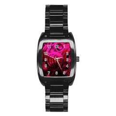 Abstract Bubble Background Stainless Steel Barrel Watch by Amaryn4rt