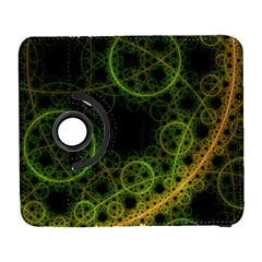 Abstract Circles Yellow Black Galaxy S3 (flip/folio) by Amaryn4rt